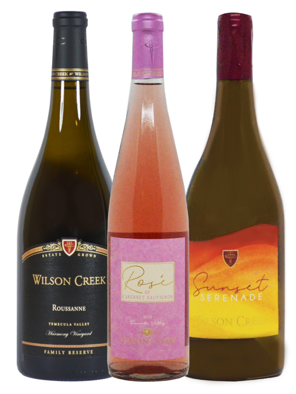 Roussanne, Rose of Cab & Sunset Serenade